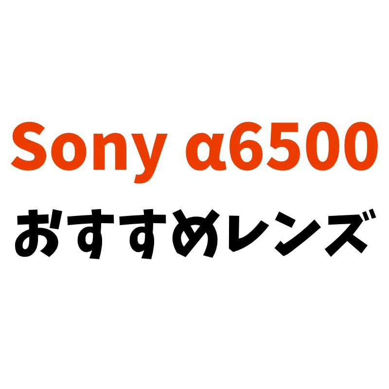 Sony α6500におすすめのレンズ紹介【APS-C,eマウント】