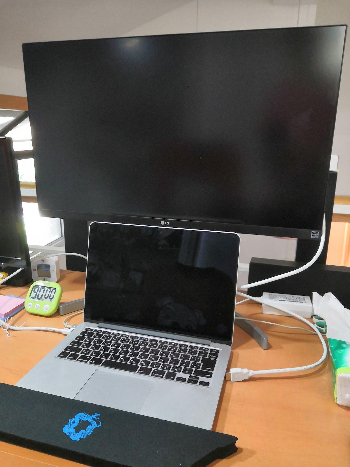 MacBook Pro用にLGの4Kモニターを導入したら超快適に!